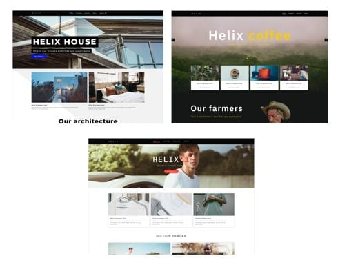 Helix example sites
